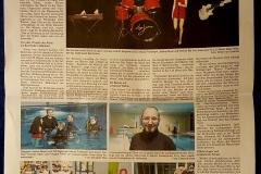 Reportage über das Unterwasser Fotoshootings in der Fränkischen Landeszeitung