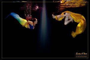 Meerjungfrauen Unterwasser Fotoshooting